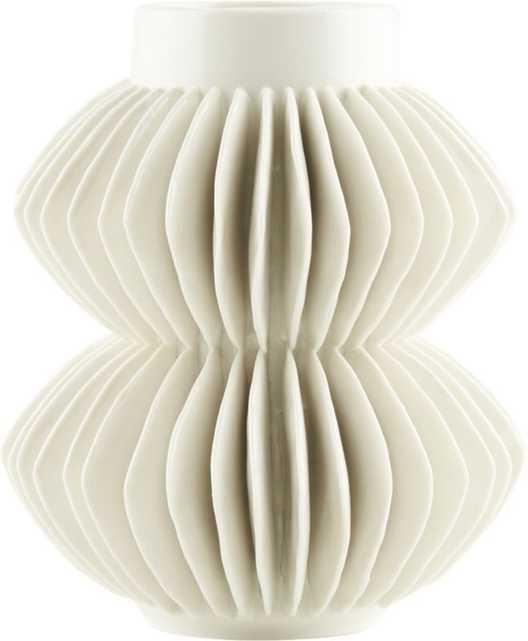 "Celia Vase, White, 5.75"" - CB2"