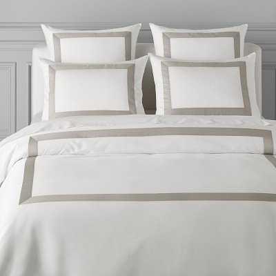 Monte Carlo Italian Bedding, Duvet, King, Gray - Williams Sonoma
