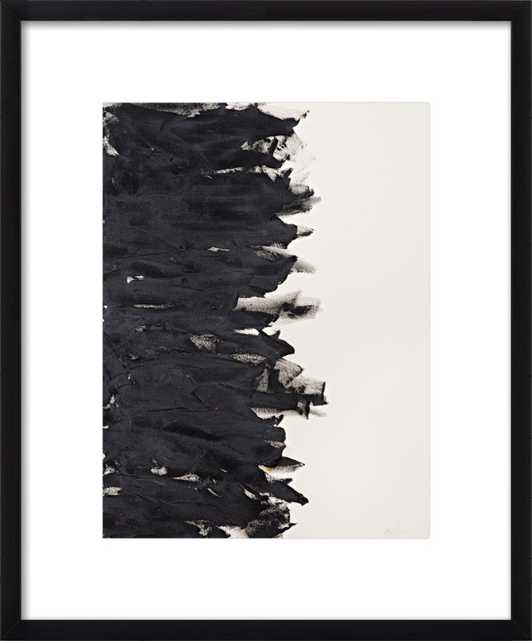 """Divide - 11""""x""""14 with Frame-Contemporary black wood - Artfully Walls"""