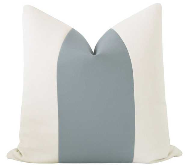 "Outdoor Panel // Linen & Turkish Blue - 20"" x 20"" - Little Design Company"