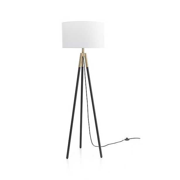 Hyde Brass and Bronze Metal Tripod Floor Lamp - Crate and Barrel