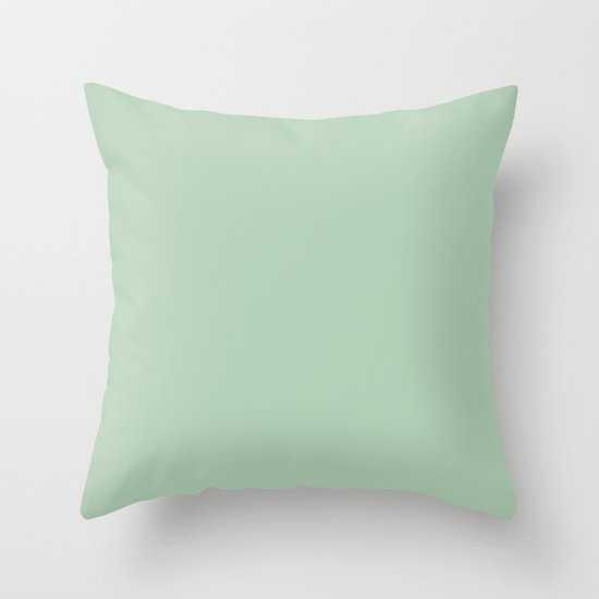 Simply Pastel Cactus Green pillow with insert 20x20 - Society6