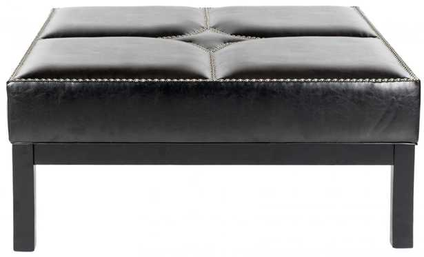 TERRENCE COCKTAIL OTTOMAN - SILVER NAIL HEADS - Arlo Home