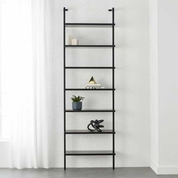 """Stairway Black 96""""  Wall Mounted Bookcase - CB2"""