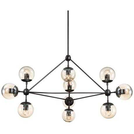 Possini Euro Gable 10-Light Black Chandelier - Lamps Plus