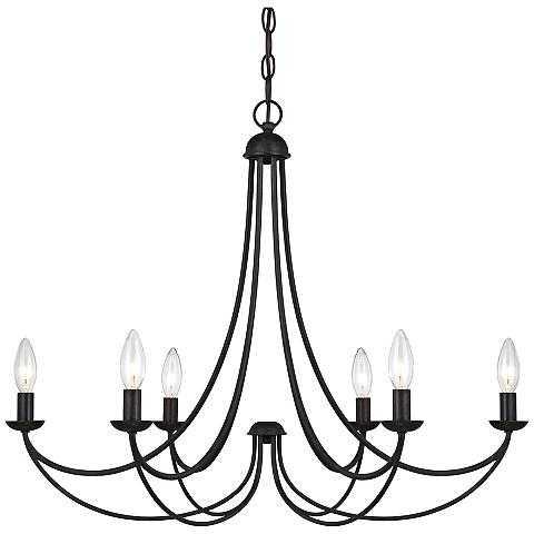 "Quoizel Mirren 28"" Wide Imperial Bronze 6-Light Chandelier - Lamps Plus"