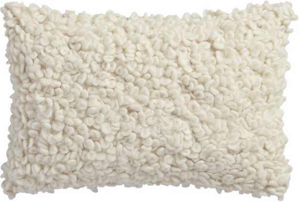 """18"""" x 12"""" toodle pillow with feather-down insert - CB2"""