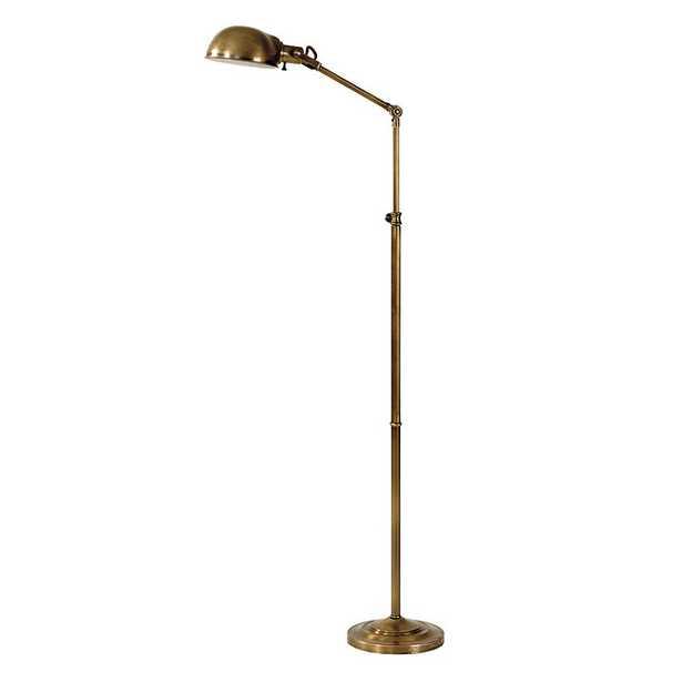 Julian Apothecary Floor Lamp - Antique Brass - Ballard Designs