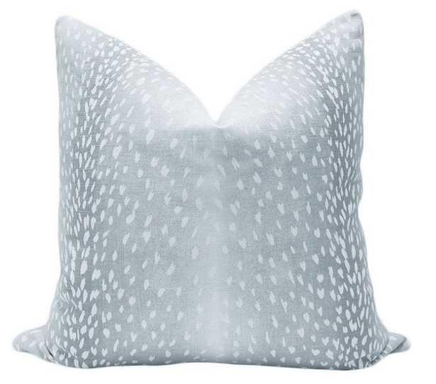 Antelope Linen Print, Spa Blue, Pillow Cover - Little Design Company