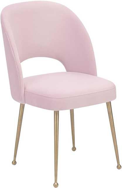 Soma Blush Velvet Chair - Maren Home