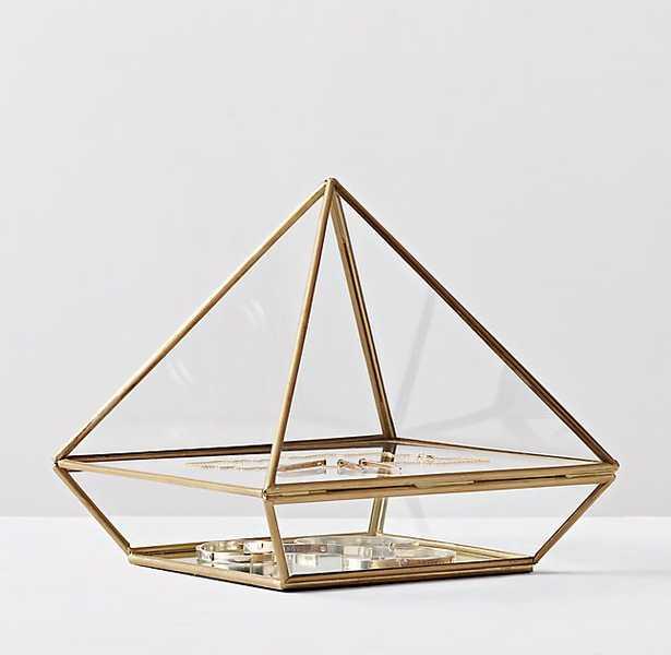 MIRRORED GLASS JEWELRY BOX - RH Teen