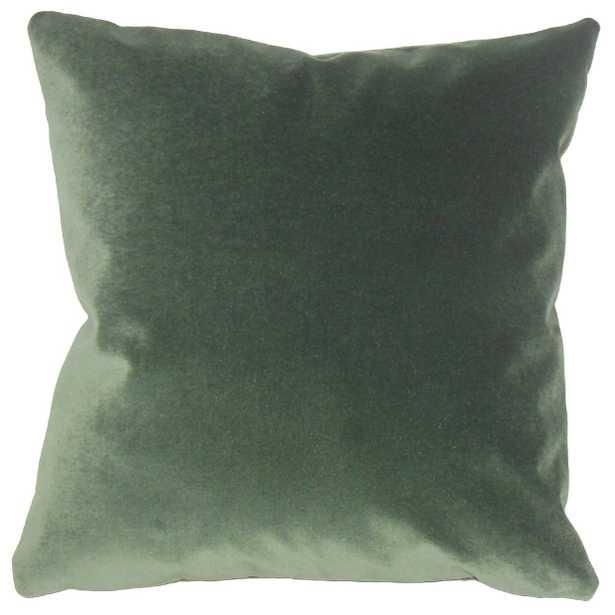 Wish Holiday Pillow Green - 20x20 down insert - Linen & Seam