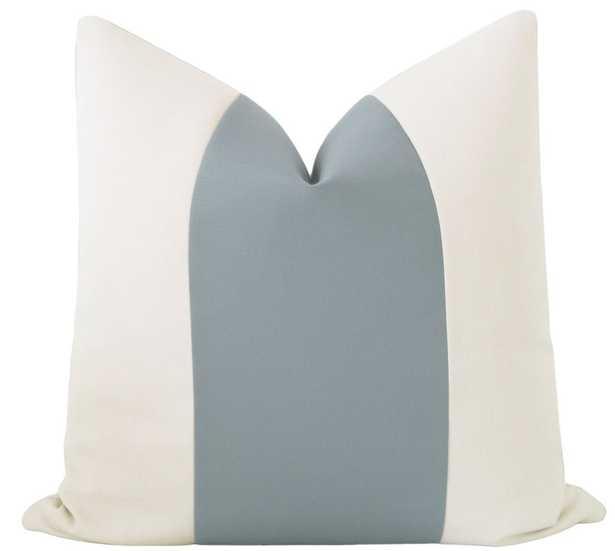 "Outdoor Panel // Linen & Turkish Blue - 22"" x 22"" - Little Design Company"