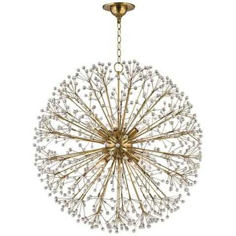 "Hudson Valley Dunkirk 30"" Wide Aged Brass Chandelier - Lamps Plus"