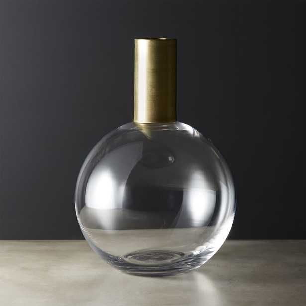 Florence Brass and Glass Vase - CB2
