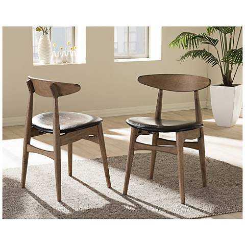 Baxton Studio, Edna Mid- Century Dining Chair- Set of 2 - Lark Interiors