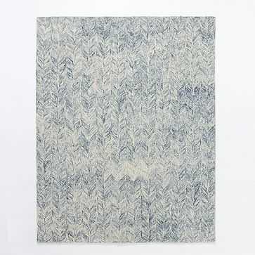 Vines Wool Rug, 9'x12', Blue lagoon - West Elm