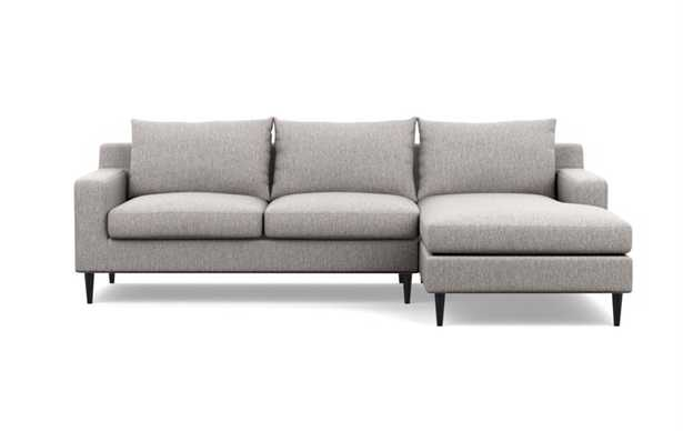 """SLOAN Sectional Sofa with Right Chaise - Earth Cross Weave-108"""" - Interior Define"""
