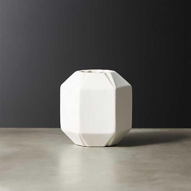 june white bud vase - CB2