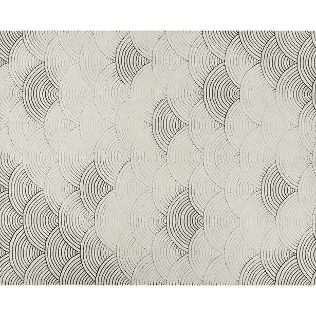 Flutter Black and White Rug 8'x10' - CB2