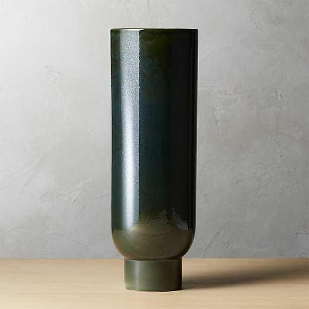 canopy large dark green vase - CB2