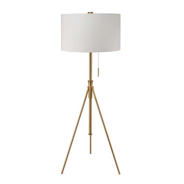 8 in. to 72 in. H Mid-Century Adjustable Tripod Gold Floor Lamp - Home Depot