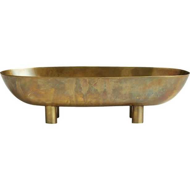 gleam brass footed bowl - 2.75H - CB2