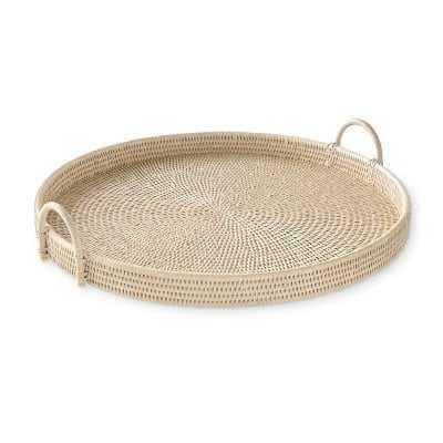 "Hapao Round Tray, Light Wash, Large / 25"" Dia - Williams Sonoma"