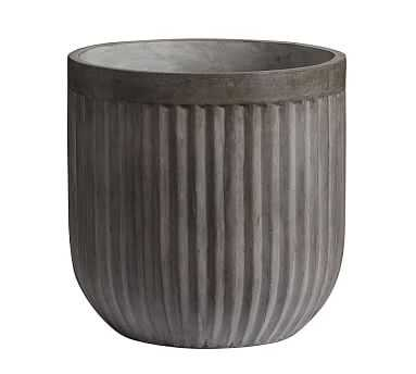Concrete Fluted Planter, Large - Pottery Barn