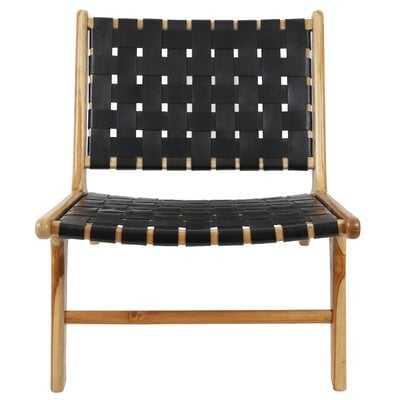 Mancheer Leather Strap Side Chair - Wayfair