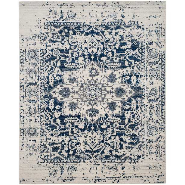 Madison Cream/Navy (Ivory/Blue) 9 ft. x 12 ft. Area Rug - Home Depot