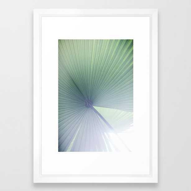 Palm Leaves 5 Framed Art Print - Vector White - Society6