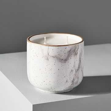 Modern Elements Candle, Small Tumbler, White, Alabaster, 11 oz - West Elm