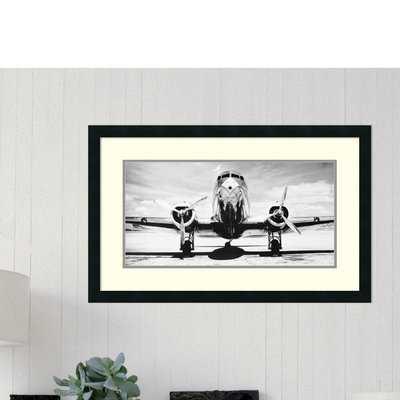 'Passenger Airplane on Runway' Framed Photographic Print - AllModern