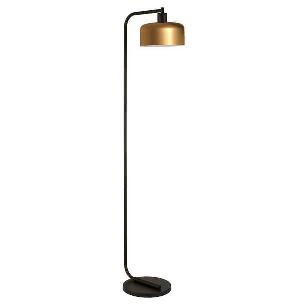 Hudson&Canal Cadmus 57 in. Blackened Bronze Floor Lamp - Home Depot