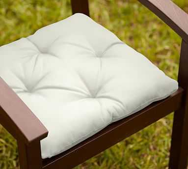 Tufted Outdoor Dining Chair Cushion, Outdoor Canvas, Natural - Pottery Barn