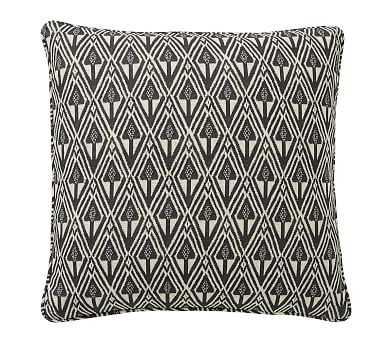 "Mitzi Print Pillow Cover, Charcoal Multi, 20"" - Pottery Barn"