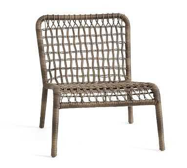 Baja Woven Lounge Chair, Modern Taupe - Pottery Barn