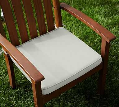 Sunbrella(R) Piped Outdoor Dining Chair Cushion, Natural - Pottery Barn