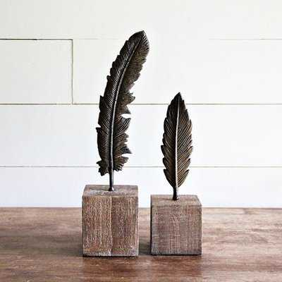 Rondon Feather on A Stand Sculpture - Birch Lane