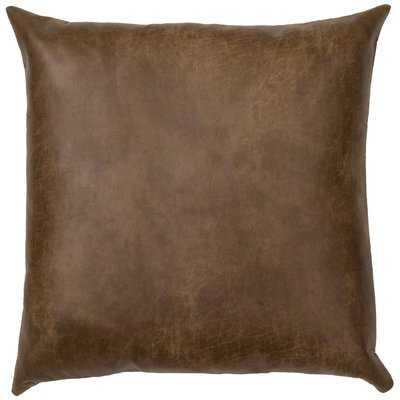 Tynan Faux Leather Euro Pillow - Wayfair