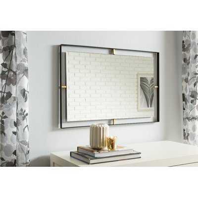 Wolbert Industrial Rectangle Accent Mirror - Wayfair