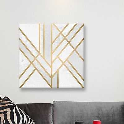 Art Deco Geometry II Graphic Art on Wrapped Canvas - Wayfair