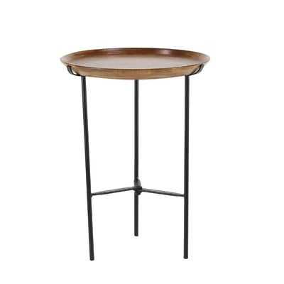 Woburn Rustic Round End Table - Wayfair