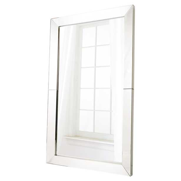 Fellowes Modern Classic Rectangular Clear Frame Mirror - Kathy Kuo Home
