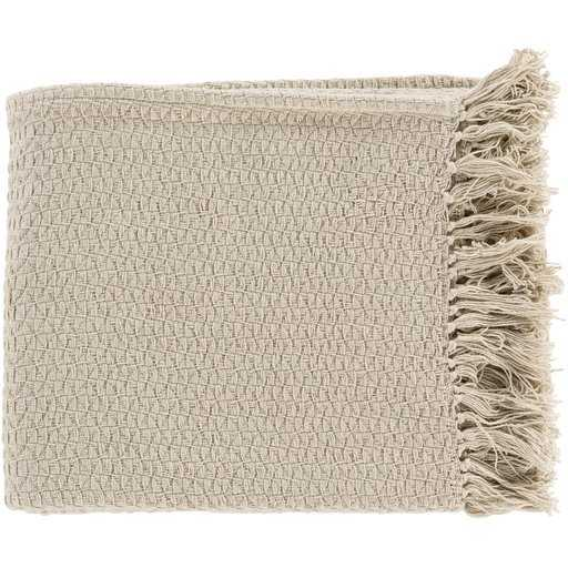 Classic Woven Throw, Beige - Havenly Essentials