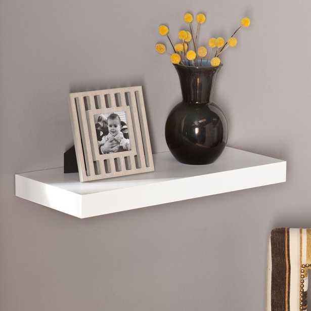 Milson Decorative Floating Shelf in White - Home Depot