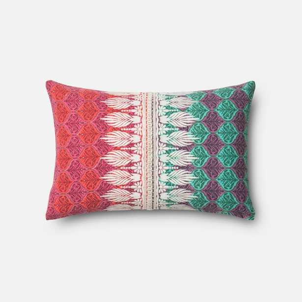 """PILLOWS - PINK / GREEN - 13"""" X 21"""" Cover w/Down - Loma Essentials"""