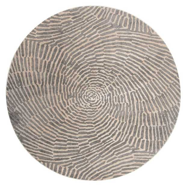 Meadow Taupe (Brown) 6 ft. 7 in. x 6 ft. 7 in. Round Area Rug - Home Depot