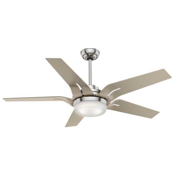 Casablanca Correne 56 in. LED Indoor Brushed Nickel Ceiling Fan - Home Depot